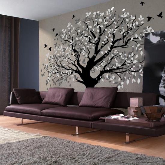 Стикер за стена дърво
