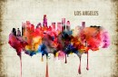 Los Angeles Watercolor Print