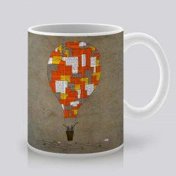 Сутрешната чаша кафе или чай става още по-приятна, с дизайнерската ни керамична чаша с щампа Балон с горещ въздух.