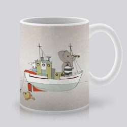 Сутрешната чаша кафе или чай става още по-приятна, с дизайнерската ни керамична чаша с щампа Мореплаватели.