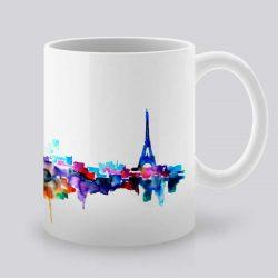 Сутрешната чаша кафе или чай става още по-приятна, с дизайнерската ни керамична чаша с щампа Парижка гледка.