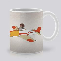 Сутрешната чаша кафе или чай става още по-приятна, с дизайнерската ни керамична чаша с щампа Слон пилот.