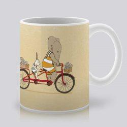 Сутрешната чаша кафе или чай става още по-приятна, с дизайнерската ни керамична чаша с щампа Тандем.