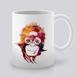 Сутрешната чаша кафе или чай става още по-приятна, с дизайнерската ни керамична чаша с щампа Усмихната маймуна.