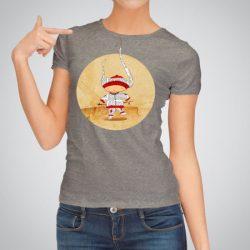 Дамска тениска Човече е изработена от висококачествен памук и последно поколение технология на печат. Ярки цветове и прецизен детайл – сякаш някой е рисувал с четка и бои върху плата.