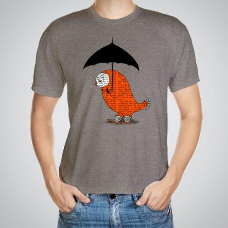 Мъжка тениска Бухал с чадър e изработена от висококачествен памук с ярки цветове и прецизен детайл – сякаш някой е рисувал с четка и бои върху плата.