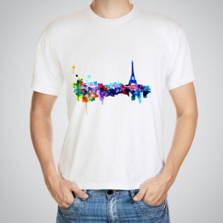 Мъжка тениска Гледка от Париж e изработена от висококачествен памук с ярки цветове и прецизен детайл – сякаш някой е рисувал с четка и бои върху плата.