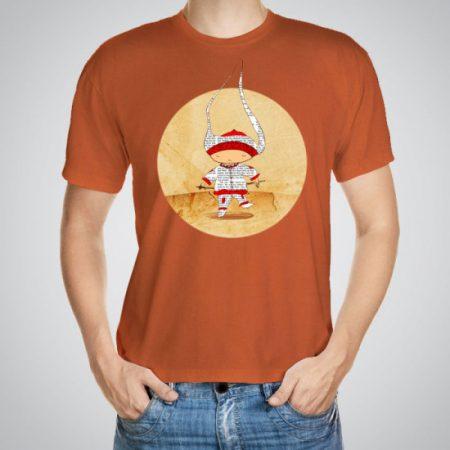 Мъжка тениска с щампа Човече e изработена от висококачествен памук с ярки цветове и прецизен детайл – сякаш някой е рисувал с четка и бои върху плата.