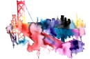 Golden Gate  Watercolor Print