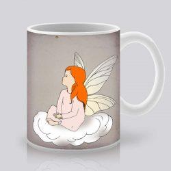 Сутрешната чаша кафе или чай става още по-приятна, с дизайнерската ни керамична чаша с щампа Ангел.