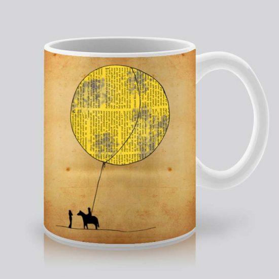 Сутрешната чаша кафе или чай става още по-приятна, с дизайнерската ни керамична чаша с щампа Балон.