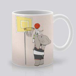 Сутрешната чаша кафе или чай става още по-приятна, с дизайнерската ни керамична чаша с щампа Баскетбол.