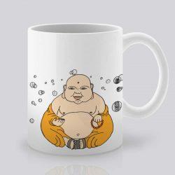 Сутрешната чаша кафе или чай става още по-приятна, с дизайнерската ни керамична чаша с щампа Буда.