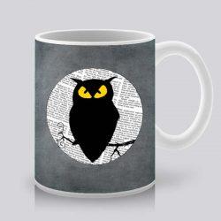 Сутрешната чаша кафе или чай става още по-приятна, с дизайнерската ни керамична чаша с щампа Бухал и луна.
