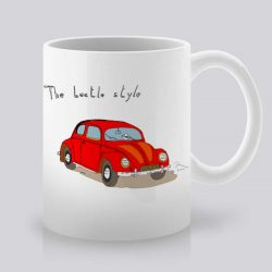 Сутрешната чаша кафе или чай става още по-приятна, с дизайнерската ни керамична чаша с щампа Червен автомобил.