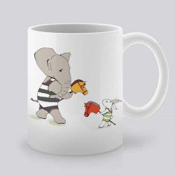 Сутрешната чаша кафе или чай става още по-приятна, с дизайнерската ни керамична чаша с щампа Игри.