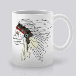 Сутрешната чаша кафе или чай става още по-приятна, с дизайнерската ни керамична чаша с щампа Индианец.