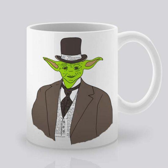 Сутрешната чаша кафе или чай става още по-приятна, с дизайнерската ни керамична чаша с щампа Извънземен.