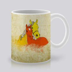 Сутрешната чаша кафе или чай става още по-приятна, с дизайнерската ни керамична чаша с щампа Коне.