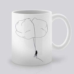 Сутрешната чаша кафе или чай става още по-приятна, с дизайнерската ни керамична чаша с щампа Лед.