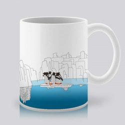 Сутрешната чаша кафе или чай става още по-приятна, с дизайнерската ни керамична чаша с щампа Ледници.