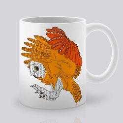 Сутрешната чаша кафе или чай става още по-приятна, с дизайнерската ни керамична чаша с щампа Летящ бухал.