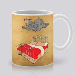 Сутрешната чаша кафе или чай става още по-приятна, с дизайнерската ни керамична чаша с щампа Летящ хипопотам.