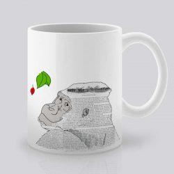 Сутрешната чаша кафе или чай става още по-приятна, с дизайнерската ни керамична чаша с щампа Маймуна.