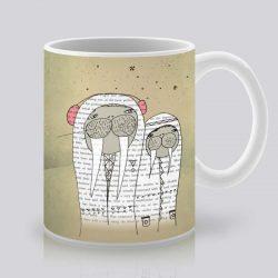 Сутрешната чаша кафе или чай става още по-приятна, с дизайнерската ни керамична чаша с щампа Моржове.