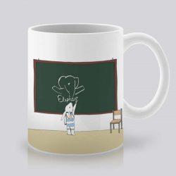 Сутрешната чаша кафе или чай става още по-приятна, с дизайнерската ни керамична чаша с щампа На дъската.