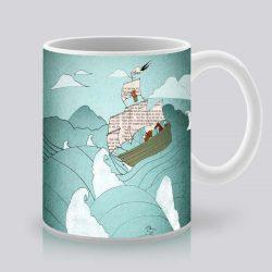 Сутрешната чаша кафе или чай става още по-приятна, с дизайнерската ни керамична чаша с щампа Ноевият ковчег.