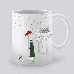 Сутрешната чаша кафе или чай става още по-приятна, с дизайнерската ни керамична чаша с щампа Нощен дъжд.