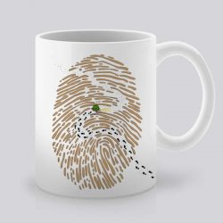 Сутрешната чаша кафе или чай става още по-приятна, с дизайнерската ни керамична чаша с щампа Отпечатък.