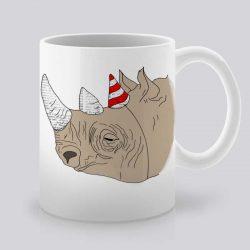 Сутрешната чаша кафе или чай става още по-приятна, с дизайнерската ни керамична чаша с щампа Парти.