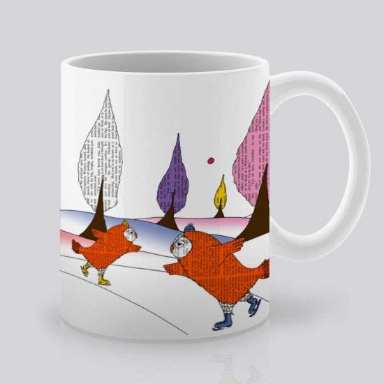 Сутрешната чаша кафе или чай става още по-приятна, с дизайнерската ни керамична чаша с щампа Пързалка в гората.