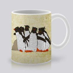 Сутрешната чаша кафе или чай става още по-приятна, с дизайнерската ни керамична чаша с щампа Пингвини.