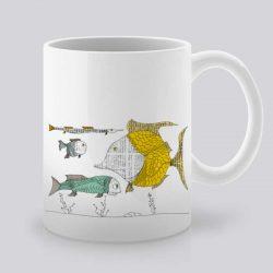 Сутрешната чаша кафе или чай става още по-приятна, с дизайнерската ни керамична чаша с щампа Под водата.