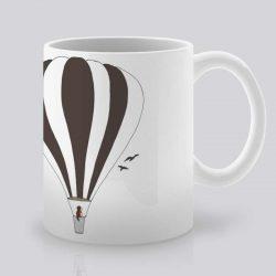 Сутрешната чаша кафе или чай става още по-приятна, с дизайнерската ни керамична чаша с щампа Полет с балон.