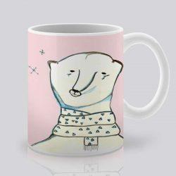 Сутрешната чаша кафе или чай става още по-приятна, с дизайнерската ни керамична чаша с щампа Полярен мечок.