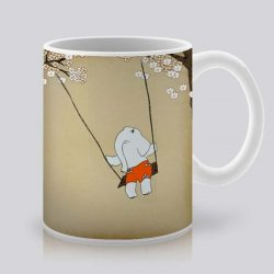 Сутрешната чаша кафе или чай става още по-приятна, с дизайнерската ни керамична чаша с щампа Пролетни цветя.