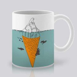 Сутрешната чаша кафе или чай става още по-приятна, с дизайнерската ни керамична чаша с щампа Сладолед.