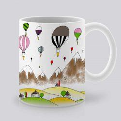 Сутрешната чаша кафе или чай става още по-приятна, с дизайнерската ни керамична чаша с щампа Снежни върхове.