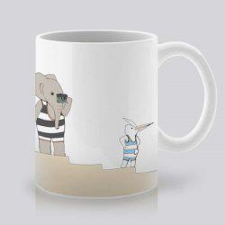 Сутрешната чаша кафе или чай става още по-приятна, с дизайнерската ни керамична чаша с щампа Снимка.