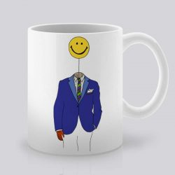 Сутрешната чаша кафе или чай става още по-приятна, с дизайнерската ни керамична чаша с щампа Усмихнато лице.