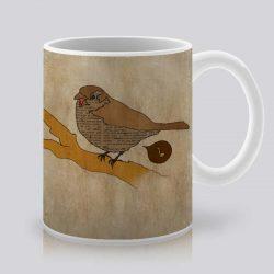 Сутрешната чаша кафе или чай става още по-приятна, с дизайнерската ни керамична чаша с щампа Утринна песен.