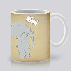 Сутрешната чаша кафе или чай става още по-приятна, с дизайнерската ни керамична чаша с щампа Високо.