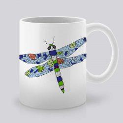 Сутрешната чаша кафе или чай става още по-приятна, с дизайнерската ни керамична чаша с щампа Водно конче.