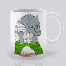 Сутрешната чаша кафе или чай става още по-приятна, с дизайнерската ни керамична чаша с щампа Зелен панталон.