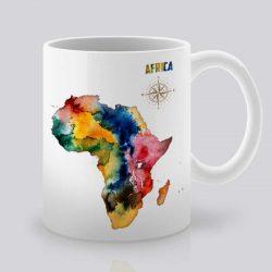 Сутрешната чаша кафе или чай става още по-приятна, с дизайнерската ни керамична чаша с щампа Африка.