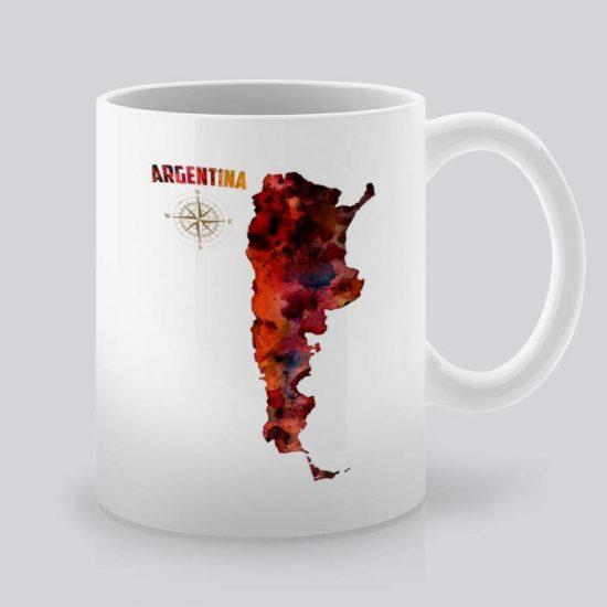 Сутрешната чаша кафе или чай става още по-приятна, с дизайнерската ни керамична чаша с щампа Аржентина.